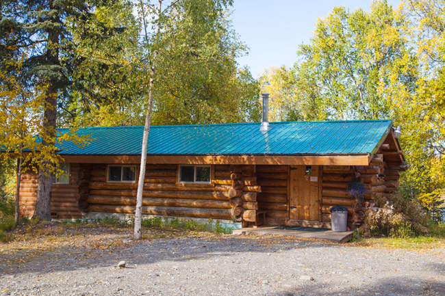 The Trap Line Cabin Exterior